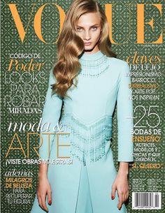 anna selezneva photo shoot12 Anna Selezneva Models Spring Style for Vogue Latin America Spread
