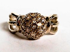 Excited to share the latest addition to my #etsy shop: Vintage Ball Ring Sterling Silver Size 6 1/2 Art Deco http://etsy.me/2Bqlvp6 #jewelry #ring #silver #round #colorless #women #artdeco #gvsteam #gemstonecowboy