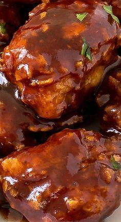 Honey Barbecue Chicken Bites : chefsavvy                              …