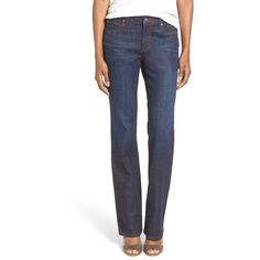 Women's Eileen Fisher Stretch Organic Cotton Bootcut Jeans ($71) ❤ liked on Polyvore featuring jeans, deep indigo, stretch bootcut jeans, stretch jeans, stretch blue jeans, bootcut jeans and eileen fisher jeans