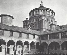 Santa Maria delle Grazie before World War Two bombings.  Discover this incredible story during our guided tours.