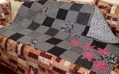 Cheerful appliqued quilt by librarybunycreations. Explore more products on http://librarybunycreations.etsy.com