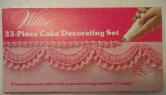 Wilton 33 piece cake decorating set vintage 1974 Complete Looks unused #Wilton
