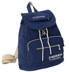 Fansela(TM) Casual Travel Nylon Drawstring Backpack School Bag Dark Blue ** You can get additional details at