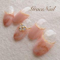 大人タイダイフレンチ / GraceNail (GraceNail) のネイル - ネイルクルー Beautiful Nail Art, Love Nails, Nail Arts, Love Fashion, Purple, Pink, Nail Designs, Beaded Bracelets, Earrings
