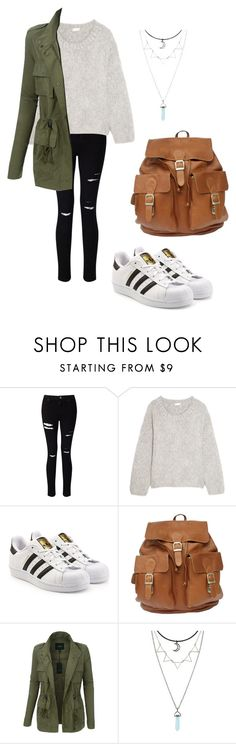 """chilly fall day"" by fashionblogger2122 on Polyvore featuring Miss Selfridge, Chloé, adidas Originals and LE3NO"
