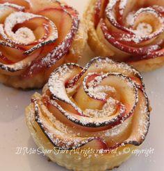 Rose di mele con pasta sfoglia il mio saper fare