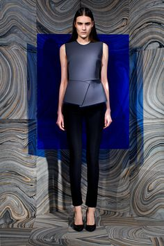 Fall 2013 Ready-to-Wear  Behnaz Sarafpour   unlined neoprene, which was cut into structured pieces...