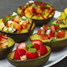 Grilled Avocados 6 Ways