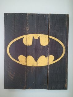 Large Vintage Super Hero Pallet Wood Signs by TheCreativePallet