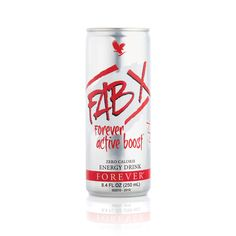 """FAB X Forever Active Boost™ It's time for a boost! FAB is a quick, refreshing way to stay energized and alert all day long.  FAB's """"boost"""" is different from other energy drinks because it gives you both immediate and long-term energy. The immediate boost comes from guarana, while the long-term energy is powered by ADX7 technology. $47.27. for 12-pack. http://480000000317.fbo.foreverliving.com/page/products/all-products/1-drinks/440/usa/en"""