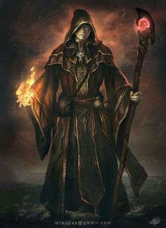 Inspiration for Sutton's Earth Mage RPG character Dark Wizard by mlappas on DeviantArt Fantasy Wizard, Dark Wizard, Fantasy Male, Fantasy Warrior, Fantasy Rpg, Medieval Fantasy, Evil Wizard, Dungeons And Dragons Characters, Dnd Characters