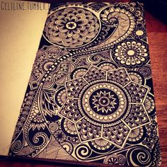 Really want to do a zentangle like this on my surfboard...definitely my next project!