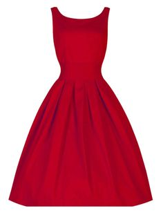 Love the shape of this dress.   Maybe not the color for me.   Red V-Neck Sleeveless Skater Midi Dress