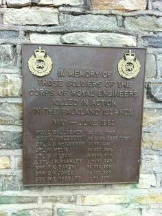 Falklands Royal Engineers memorial Royal Military Academy Sandhurst, War Memorials, Royal Engineers, Falklands War, Killed In Action, Hello To Myself, War Machine, Respect, Engineering