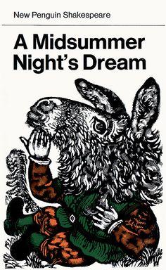 A Midsummer Night's Dream - William Shakespeare - cover design by David Gentleman Book Cover Art, Book Cover Design, Book Design, Book Art, Vintage Book Covers, Vintage Books, Antique Books, Vintage Signs, David Gentleman