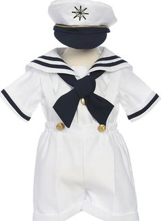 Boys white sailor suit