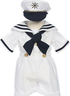 Boys white sailor suit