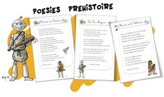 Poesies Cro Magnon, Kids Learning, Poems, Classroom, Teaching, Education, Illustrations, Anna, French