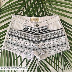 Além de tendência a estampa étnica em P&B é sofisticada e descontraída!! #Aposte #Gdokyjeans #Summer2016 #etnico #cool #shorts