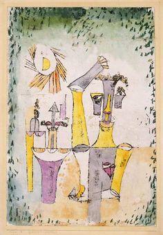 Titre de l'image : Paul Klee - Schwarzmagier, 1920.