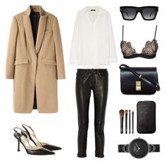 """""""Fall Elegance"""" by fashionlandscape ❤ liked on Polyvore featuring The Row, rag & bone, CÉLINE, Jimmy Choo, For Love & Lemons, NARS Cosmetics and Skagen"""