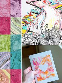 Pintura com efeito marmorizado: ideias e materiais Tie Dye, Do It Yourself Projects, Creativity, Colors, Hand Crafts, Ideas, Pintura, Tye Dye