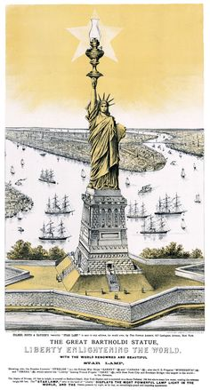 This Currier & Ives lithograph, circa 1885, was created as an advertising for kerosene Star Lamps: