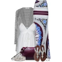 EMILIO PUCCI maxi skirt, created by colierollers on Polyvore