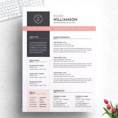Professional resume cv template modern resume template 120430 is designed to showcase your skills and experience in a sleek way the template is always easy to fill out save time and effort Resume Tips, Resume Cv, Resume Examples, Resume Ideas, Mise En Page Portfolio, Portfolio Web, Cv Design Template, Resume Template Free, Modern Resume Template