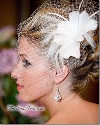 Image result for wedding fascinator with veil