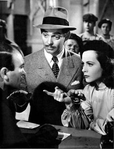 Clark Gable and Hedy Lamarr, Comrade X (1940).