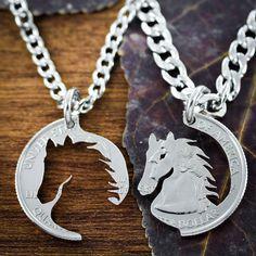 Mejor amigo caballo collares joyería ecuestre mano por NameCoins