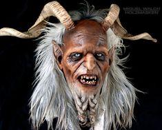 Miguel Walch wooden masks | Krampus masks Love the beard