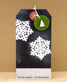 Tsuruta Designs: 25 days of Christmas tags: 'tis the season 25 Days Of Christmas, Christmas Tree Cards, Christmas Themes, Xmas, Christmas Ornaments, Holiday Decor, Cardmaking And Papercraft, Winter Theme, Tis The Season