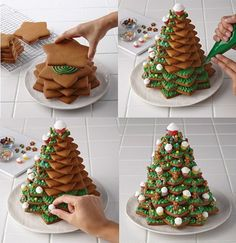 Baking gingerbread and designing it differently - 20 imaginative ideas ร . - Baking gingerbread and designing it differently – 20 imaginative ideas cookie - Christmas Goodies, Christmas Desserts, Christmas Treats, Christmas Baking, Christmas Time, Simple Christmas, Christmas Gingerbread House, Gingerbread Cookies, Cookies Et Biscuits