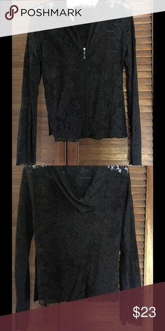 Pretty Lace Hoodie NWOT. Excellent condition. Floral detail. Victoria's Secret Tops Sweatshirts & Hoodies