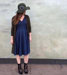 Seamed Denim Dress #Anthropologie #MyAnthroPhoto