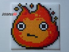 Calcifer - Howl's Moving Castle hama beads by Sidorus00