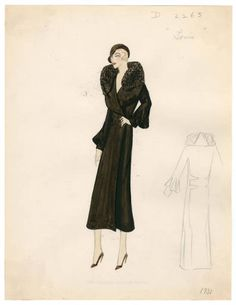 Bergdorf Goodman sketches : Louis 1931-1950. 1931-1950. Metropolitan Museum of Art, New York. Costume Institute. Bergdorf Goodman sketches, 1929-1952 Costume Institute. #stylish #amazing | Fashion says who you are.