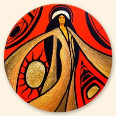 Copperwoman by AaronPaquette on DeviantArt Native American Artwork, Native American Artists, Drums Art, Winter Painting, Collaborative Art, Indigenous Art, Aboriginal Art, Native Art, Female Art