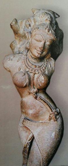 Yakshi, Salabhanjika (tree touching)  9th C. India C. Prathihara Dynasty.  Gwalior Museum. M. P.