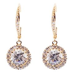 Bling by Wilkening 14 Kt. Gold Plated Princess Drops