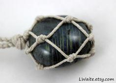 Labradorite Hemp Wrapped Healing Crystal Necklace www.etsy.com/listing/269630953/