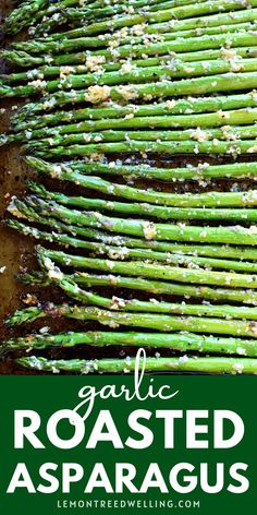 This Garlic Roasted Asparagus is packed with the delicious flavors of garlic and parmesan and is ready in 15 minutes or less! The perfect side dish for any meal. If you love garlic, this easy vegetable dish will be a huge hit! Side Dishes Easy, Side Dish Recipes, Pork Recipes, Veggie Recipes, Main Dishes, Vegetarian Recipes, Potato Vegetable, Vegetable Side Dishes, Easy Weeknight Meals