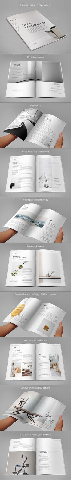 Fashion Magazine | Indesign magazine templates, Magazines and Print ...