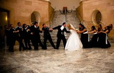 Such a cute idea for a wedding party photo