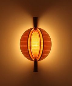 Woodstar.co.uk - Quin veneer wall light, sails closed