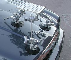"""Filmtools® Medium Weight Camera Suction Cup Mount Starter Kit for Cars.  This mount comes with full industry standard full sized equipment 10"""" x 7-1/2"""" cheese plate, six full-sized Matthews Grip heads, and 6"""" Suction Cups with 3/8-16 spuds (not 1/4-20 spuds) for added stability. PELICAN CASE INCLUDED!!"""