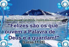 Felizes São Os Que Guardam a Palavra De Deus.